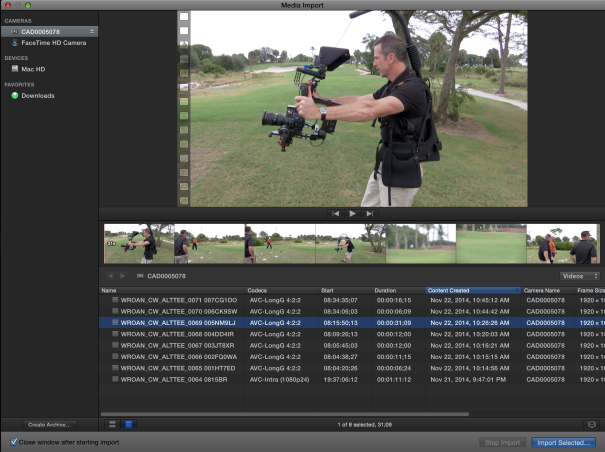 Final Cut Pro 10.1.4 adds support for Panasonic LongG50 codec.