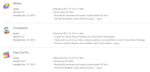 FCPX Updates